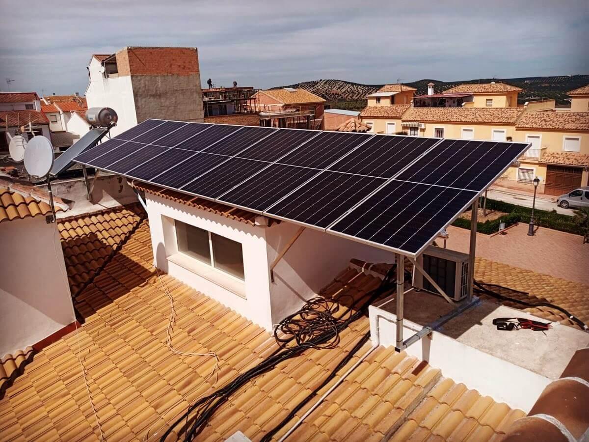 Pérgola Solar sobre tejas
